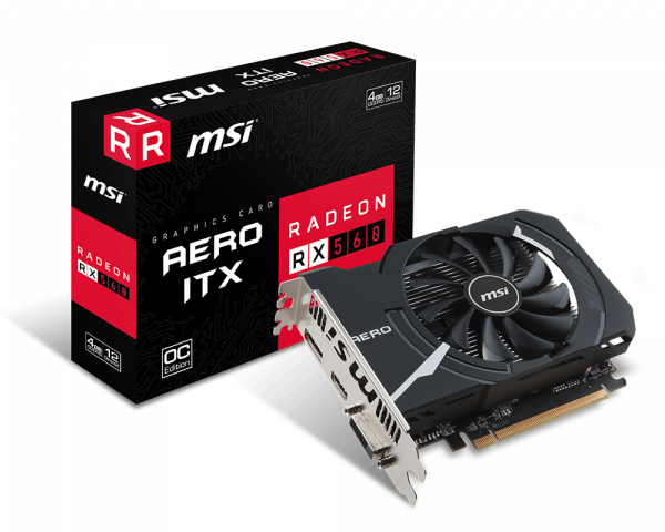 Placa de video Radeon RX 560 AERO ITX 4G OC