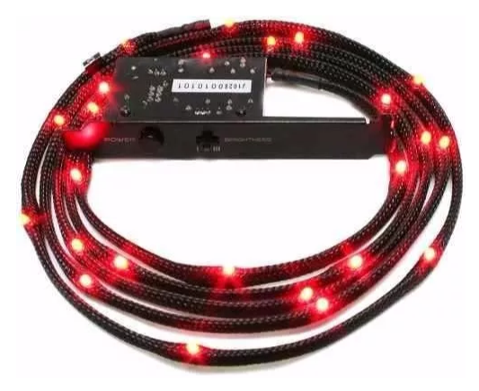 Tira De Led Nzxt Sleeved Led Kit 1 Metros - color rojo
