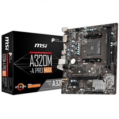 Motherboard Msi A320m-a Pro Max Amd Am4